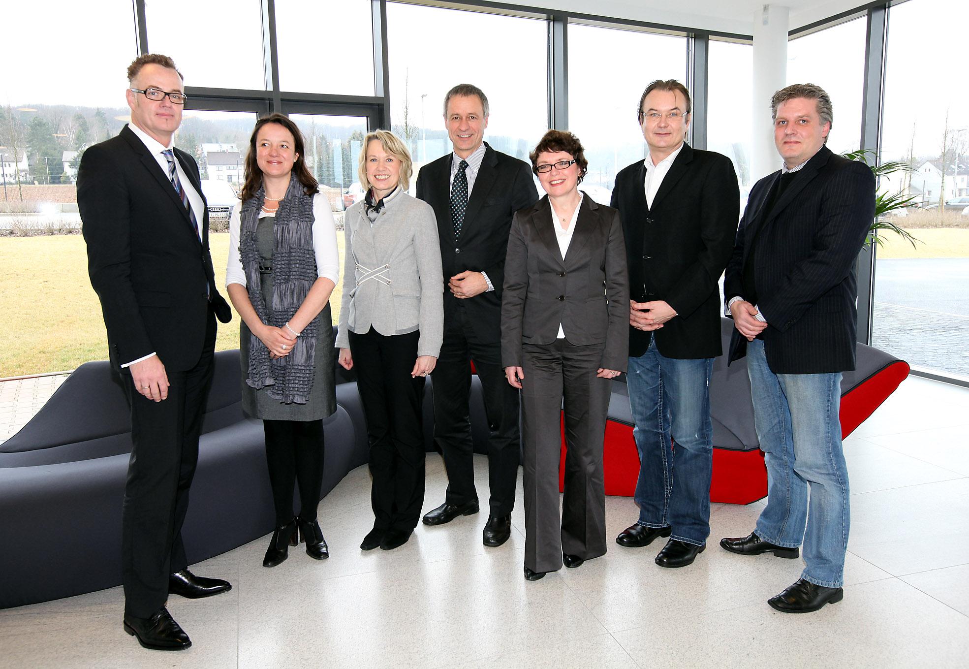 Ostwestfälische Unternehmer bei der itelligence AG - Foto: Reimar Ott