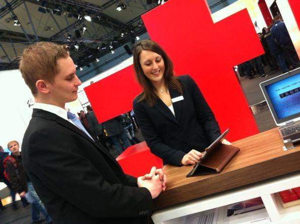 HR auf dem CeBIT-Stand 2012